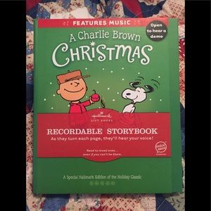 Hallmark Charlie Brown Recordable Story Book 🎄